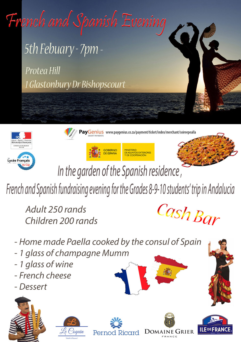 French Spanish Party In The Garden Of The Spain Residency In Cape